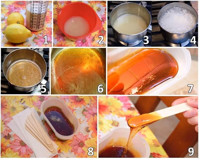 Этапы приготовления пасты