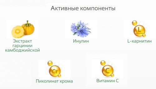 Активные компоненты жиросжигающего чая Леовит
