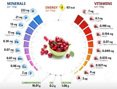 Полезный состав вишни