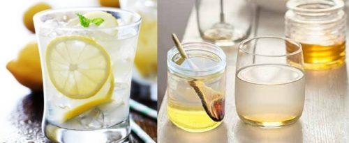 Лимонная и медовая вода