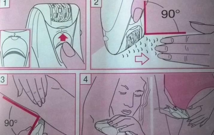 Инструкция по использованию эпилятора