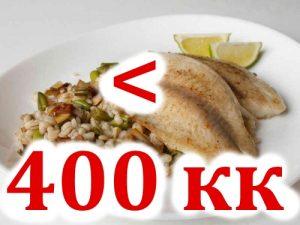 Калорийность не более 400 кк в день