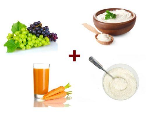 Ингредиенты для виноградной лифтинг маски