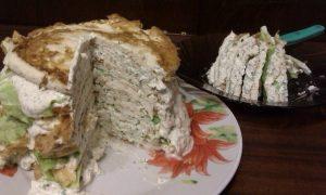 Белковый мясной торт