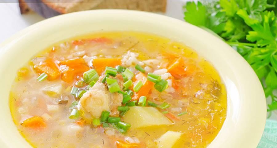 Овощной суп с рисом