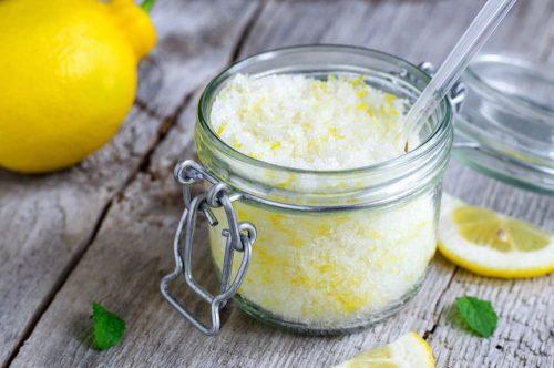Скраб из соли, соды и лимона