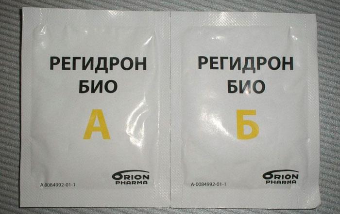 Регидрон в пакетиках