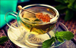 Зеленый чай с медом