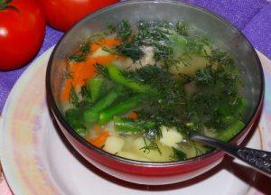 Суп из стручковой фасоли и курицы