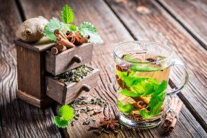 Зеленый чай с корицей