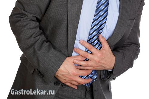 Человек с симптомами гастрита