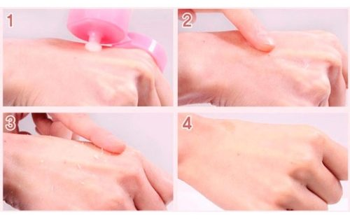 Проверка геля на аллергию