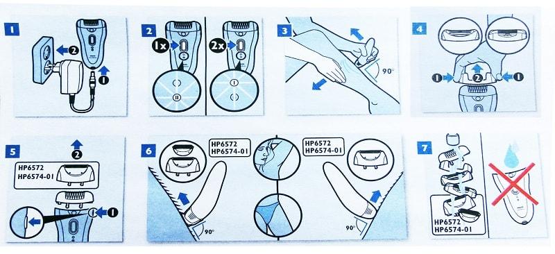 Инструкция к электроэпилятору