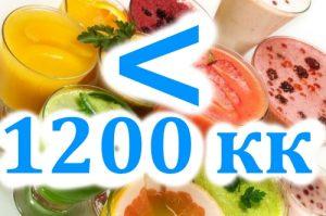 Менее 1200 кк в день
