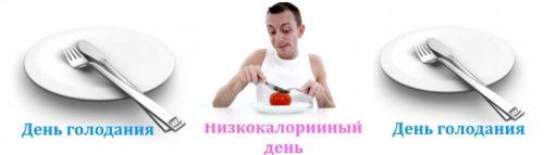 Сочетание дней голодания и низкокалорийных дней