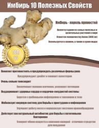 Полезные свойства имбиря