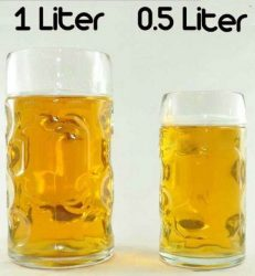 Литровая кружка пива