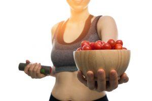 Сочетание спорта и томатной диеты