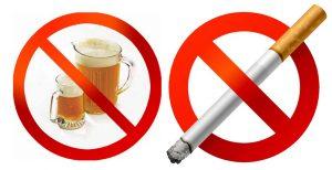 Алкоголь и курение под запретом