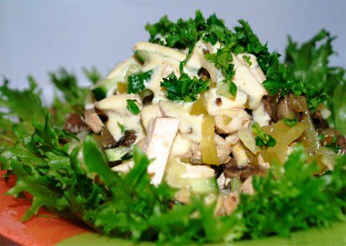 Салат с листовым сельдереем
