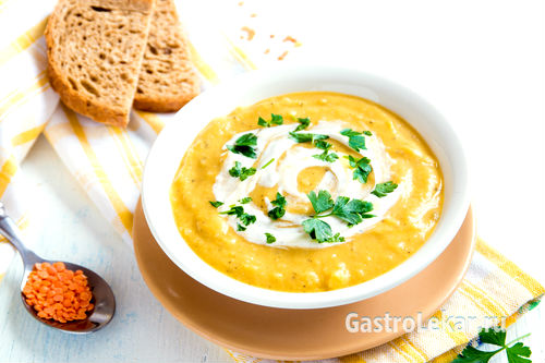 Суп-пюре при обострении гастрита