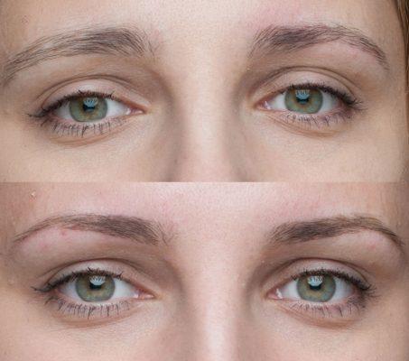 Брови для зеленых глаз