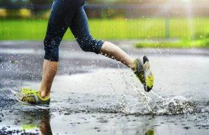 Тренировка в дождь