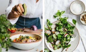 Салат с мятой и редисом