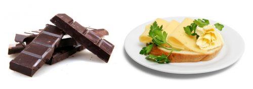 Шоколад и бутерброды
