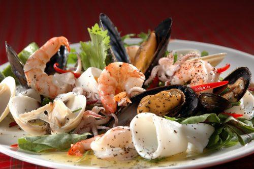 Употребление морепродуктов на диете