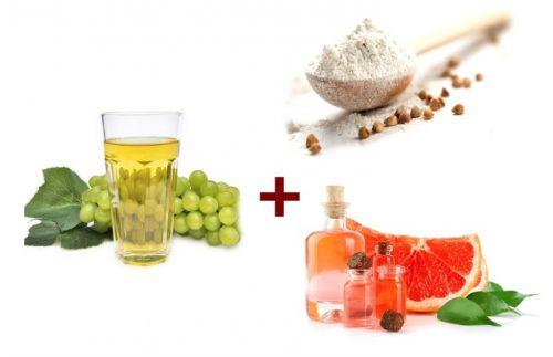 Ингредиенты для виноградной маски для жирной кожи