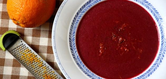Пряный суп-пюре из свеклы