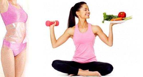 Сочетание обертывания, спорта и диеты