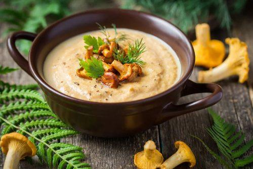 Суп–пюре из лисичек