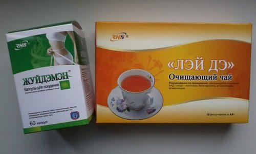 Чай и капсулы Жуйдэмэн