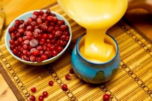 Сочетание клюквы и меда