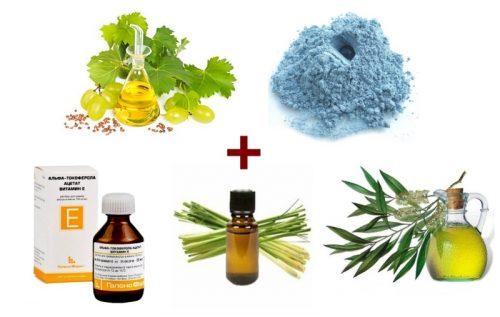 Ингредиенты виноградной маски для выравнивания тона
