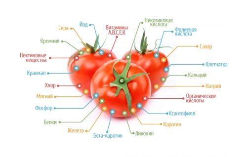 Витамины и микроэлементы в составе томата