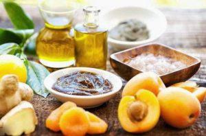 Маска с маслом абрикоса и глиной