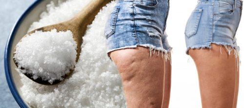 Лечение целлюлита морской солью