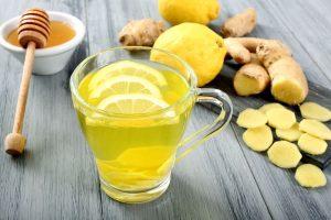 Медовый напиток с имбирем и лимоном