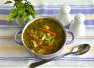 Суп из кабачков и сельдерея