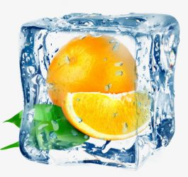 Апельсиновый лед