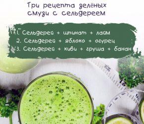 Рецепты смузи с сельдереем
