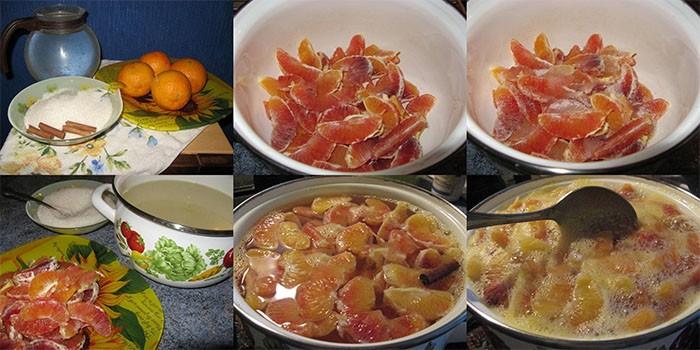 Приготовление апельсинового компота