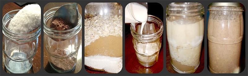 Приготовление овсянки с какао