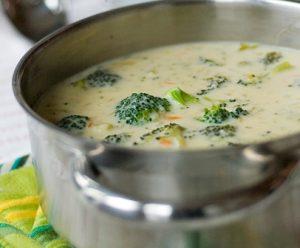 Суп из брокколи с сыром
