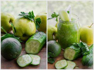 Смузи с огурцами и яблоками