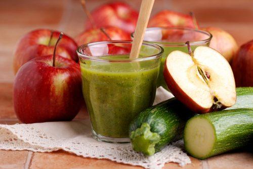 Яблочно–огуречный смузи