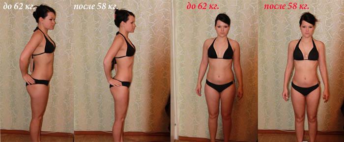 Похудение на 4 кг